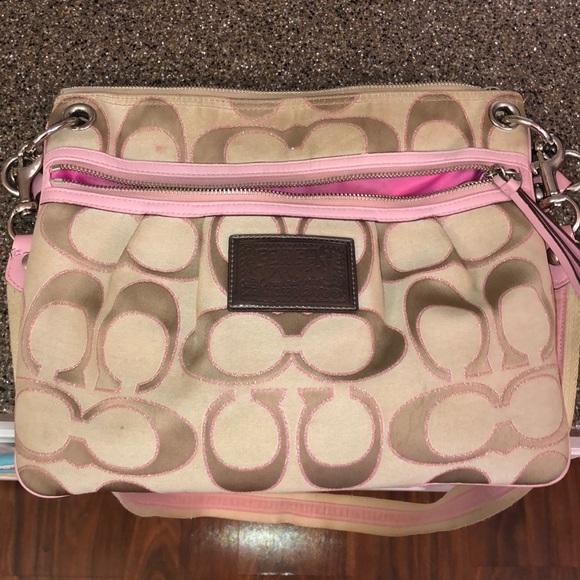 Coach Handbags - Coach poppy pink bag c83eca9dba080